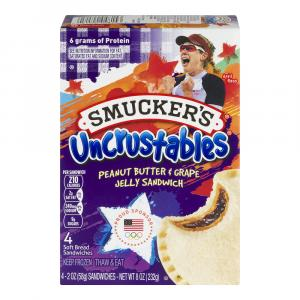 Smucker's Uncrustables Grape Sandwiches