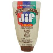 Jif Squeezable Natural Creamy Peanut Butter