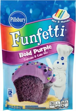 Pillsbury Funfetti Bold Purple Cupcake And Cake Mix
