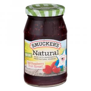 Smucker's Red Raspberry Natural Fruit Spread