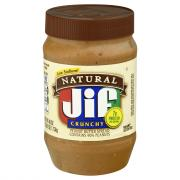 Jif Natural Crunchy Peanut Butter Spread