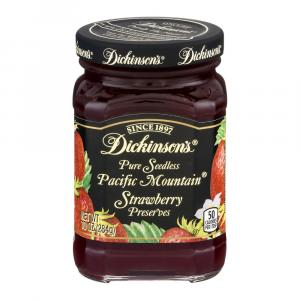 Dickinson's Seedless Pacific Mountain Strawberry Preserves