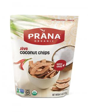 Prana Organic Jive Spicy Chili Dry Roasted Coconut Chips