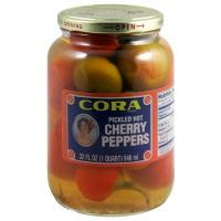 Cora Pickled Hot Cherry Peppers
