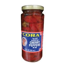 """Cora """"So Hot"""" Sliced Hot Cherry Peppers in Oil"""