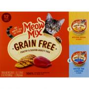 Meow Mix Grain Free Poultry & Seafood Variety Pack