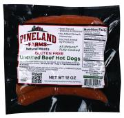 Pineland Farms Gluten Free Uncured Beef Hot Dogs