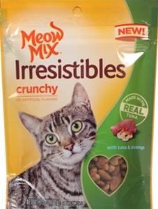 Meow Mix Irresistables Crunchy With Real Tuna And Shrimp