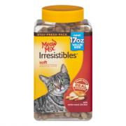 Meow Mix Irresistibles Soft Treats with Chicken for Cats