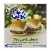 White Castle Vegan Microwavable Veggie Sliders