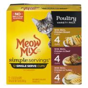 Meow Mix Simple Servings Poultry Variety Pack