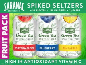 Saranac Green Tea Spiked Seltzers Fruit Pack
