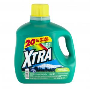 Xtra Mountain Rain 116 Top Loader Laundry Detergent