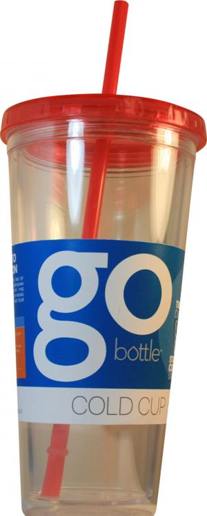 Go Bottle Basic Cold Cup With Straw