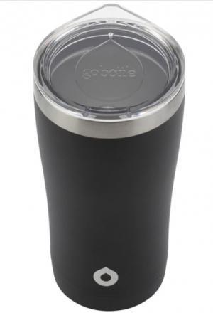 Go Bottle Fuel Tumbler Stainless Steel Black 20 Ounce