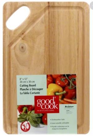 Good Cook Wood Cutting Board 8 X 12 Inch