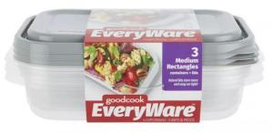 GoodCook EveryWare Medium Rectangle Containers