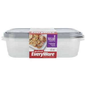 GoodCook EveryWare Extra Large Rectangle Containers