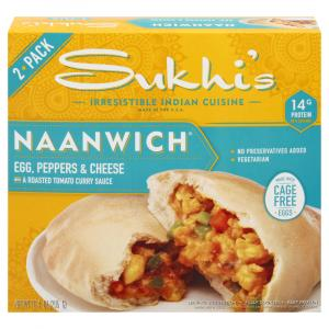 Sukhi's Naanwich Egg, Peppers & Cheese