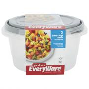 GoodCook EveryWare Extra Large Round Containers