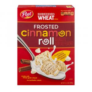 Post Shredded Wheat Frosted Cinnamon Roll