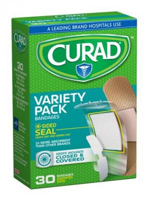 CURAD Variety Pack Bandages Butterfly,Flex,Waterproof