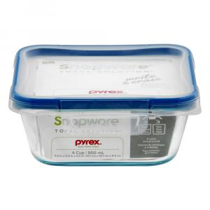 Pyrex Snapware Square Glass 4-Cup