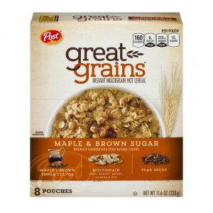 Great Grains Maple & Brown Sugar Instant Hot Cereal