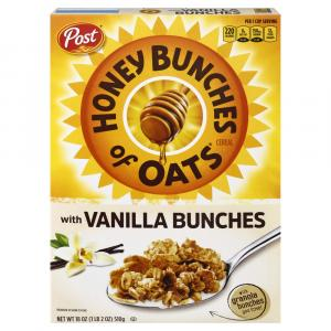 Post Honey Bunches of Oats Whole Grain with Vanilla Bunches