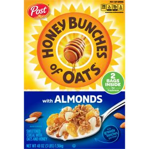 Post Honey Bunches Of Oats Almond Club Pack Cereal