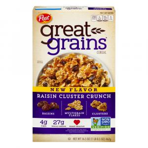 Post Great Grains Raisin Cluster Crunch Cereal