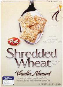 Post Vanilla Almond Shredded Wheat Cereal