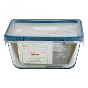 Pyrex Snapware Deep Rectangle 8 Cup Glass Container