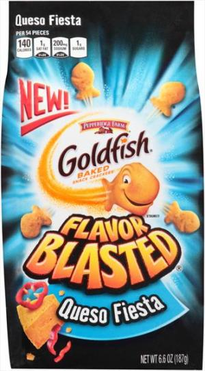 Pepperidge Farms Queso Fiesta Flavor Blasted Goldfish