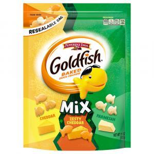 Pepperidge Farm Goldfish Mix Cheddar,Pretzel,Zesty Cheddar