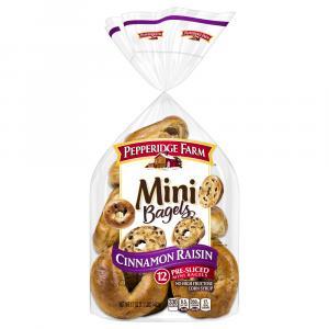 Pepperidge Farm Mini Cinnamon Raisin Bagels