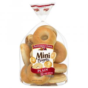 Pepperidge Farm Plain Mini Bagels