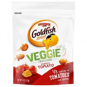 Pepperidge Farm Goldfish Veggie Crackers Cheesy Tomato