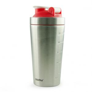 Asobu Shake It Baby Stainless Steel Workout Bottle Red 30 Oz