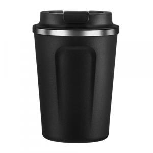 Asobu Cafe Compact Black Insulated Travel Bottle 13 Ounce