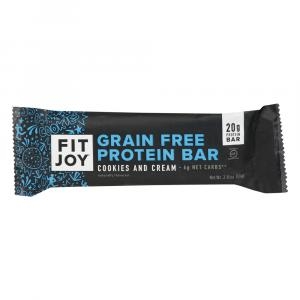 Fit Joy Cookies and Cream Protein Bar