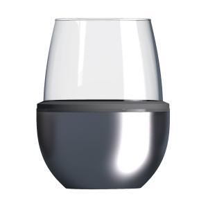 Asobu Insulated Wine Kuzie Silver