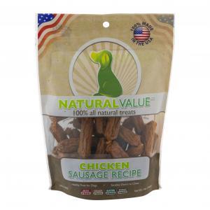 Natural Value Chicken Sausage Dog Treats