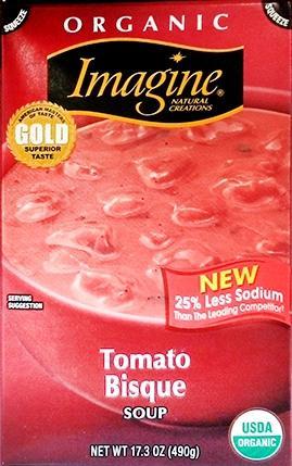 Imagine Organic Tomato Bisque With Chunks Of Tomato & Cream