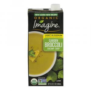 Imagine Organic Light In Sodium Garden Broccoli Creamy Soup