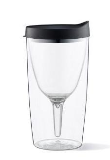 Vino 2 Go Wine Cup Black