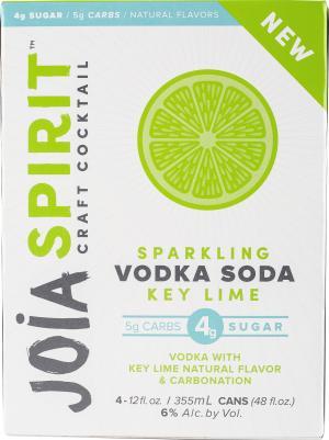 Joia Spirit Craft Cocktail Sparkling Vodka Soda Key Lime