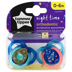 Tommee Tippee 0 to 6 Months Night Time Orthodontic Pacifiers