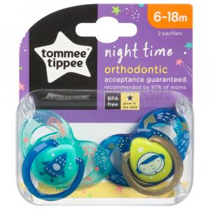 Tommee Tippee 6 to 18 Months Night Time Orthodontic Pacifier