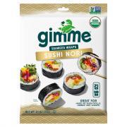 GimMe Organic Sushi Nori Roasted Seaweed